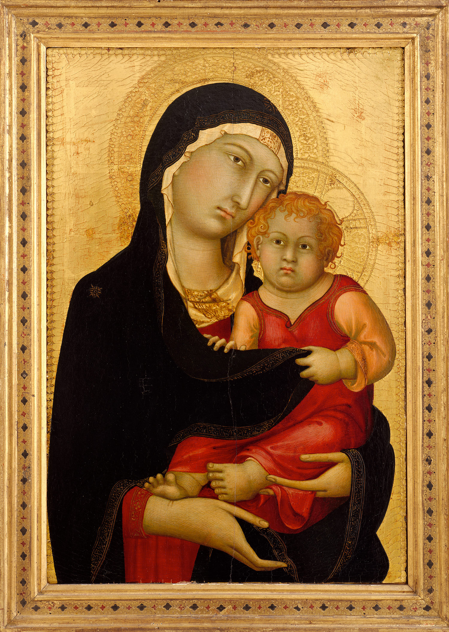 Medieval Art Paintings Religious Madonna and Child  ca  1326