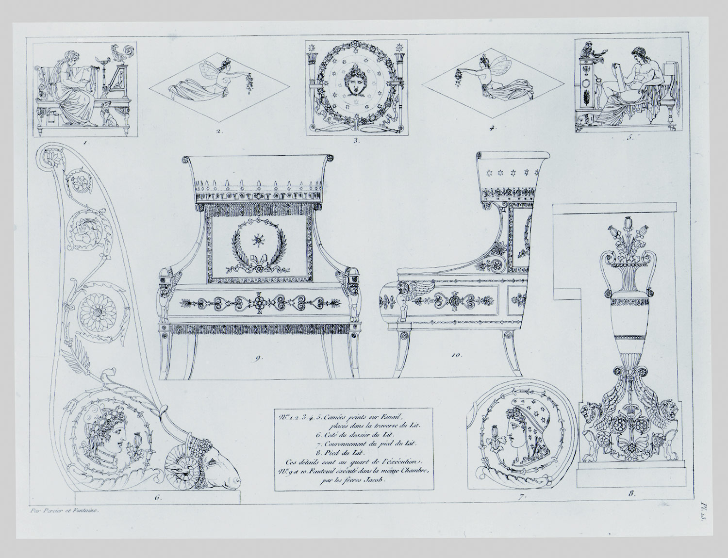 Charles Percier and Pierre-François-Léonard Fontaine : Design for ...
