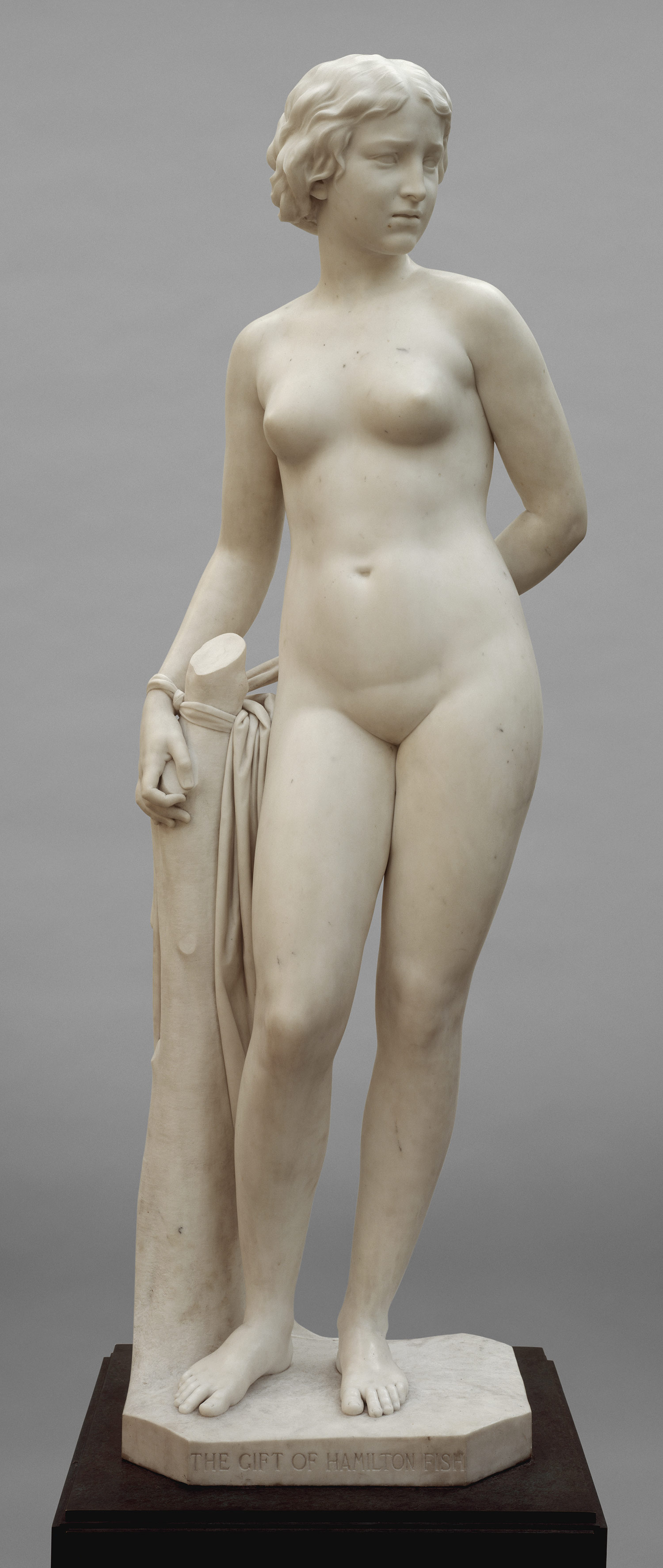 Erastus Dow Palmer's 'The White Captive', statue of nude woman standing