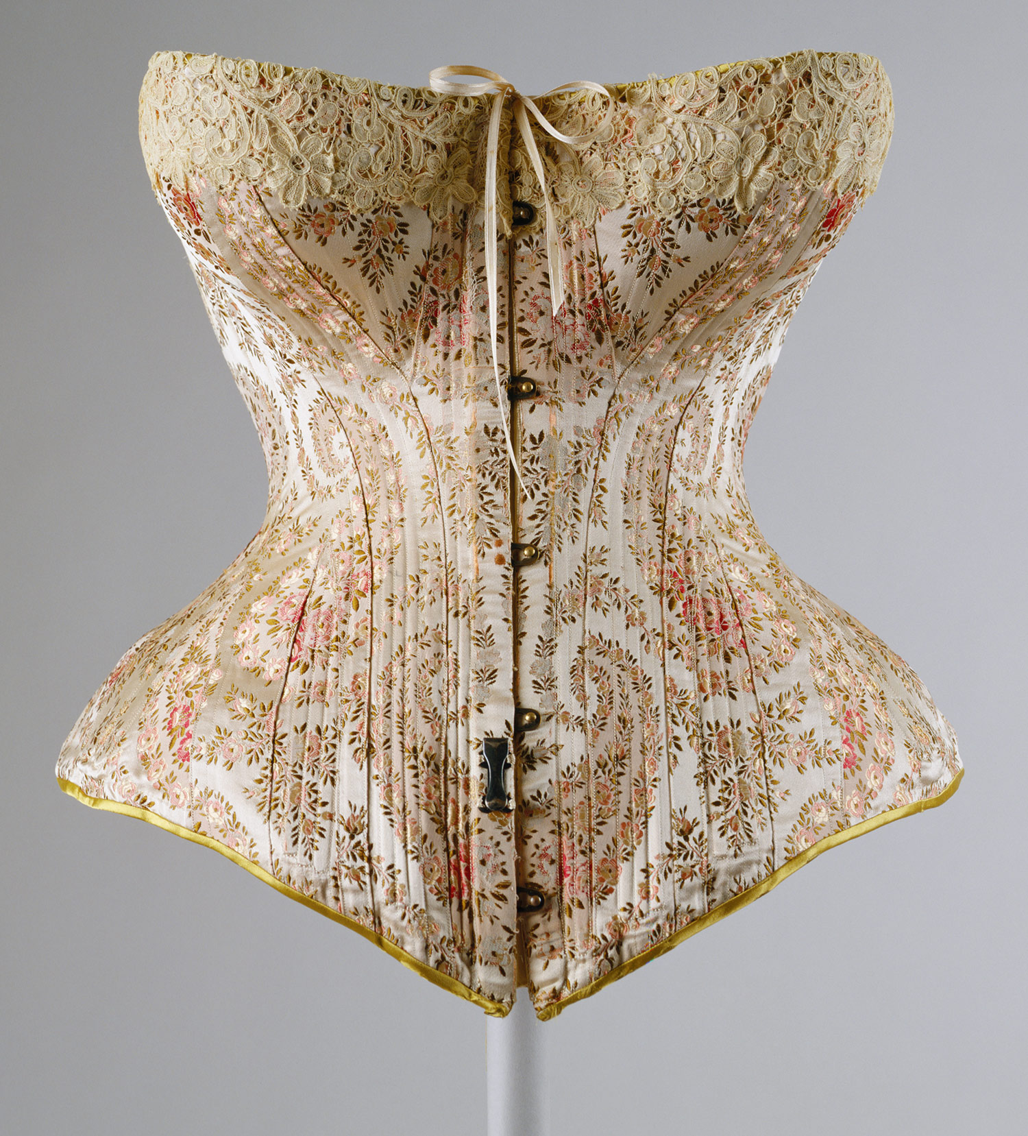 Corset, 1891 Maison Léoty (French, late 19th century) Silk