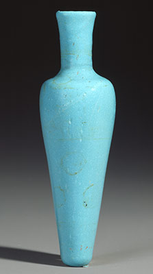 Cosmetic Flask (Mukhula) of Opaque Turquoise Glass