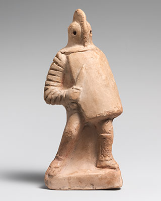 Terracotta statuette of a gladiator