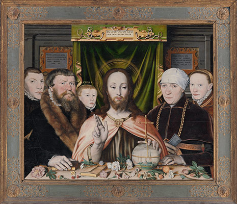 Christ Blessing, Surrounded by a Donor Family
