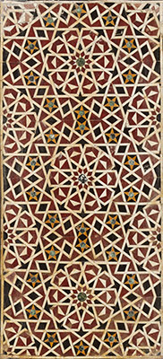 Wall Panel with Geometric Interlace