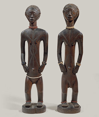 Standing Male and Female Figures