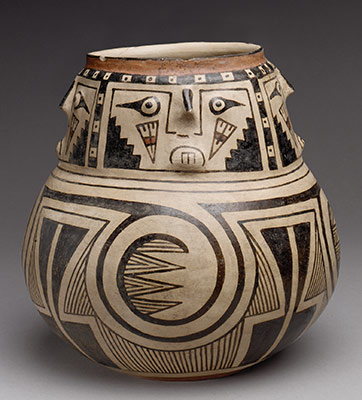 Jar with Four Faces