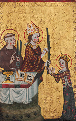 The Bishop of Assisi Handing a Palm to Saint Clare