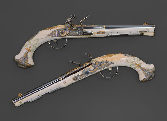 Pair of Flintlock Pistols of Empress Catherine the Great (1729–1796)