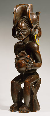 Seated Chief Playing Thumb Piano (Mwanangana)