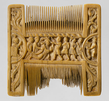 Double-Sided Ivory Liturgical Comb with Scenes of Henry II and Thomas Becket