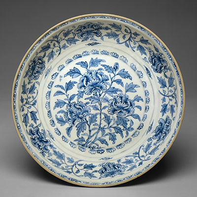 Plate with Peonies