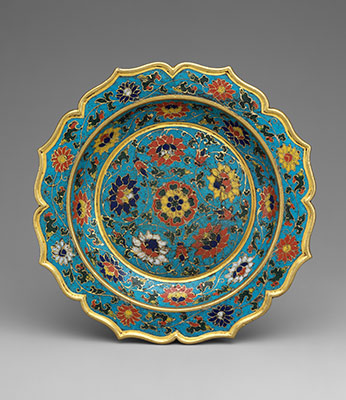Dish with scalloped rim