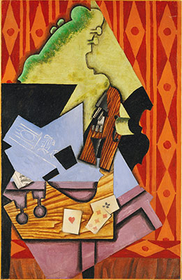 Violin and Playing Cards