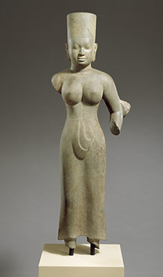 Standing female deity, probably Durga