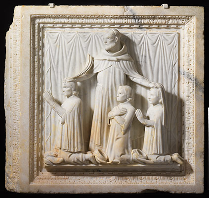 Relief with Saint Peter Martyr and Three Donors