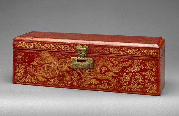 Sutra Box with Dragons amid Clouds
