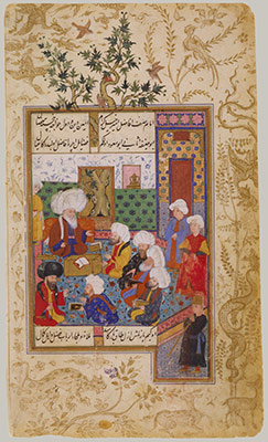 The Great Abu Saud Teaching Law: Folio from the Divan of Mahmud Abd al-Baqi