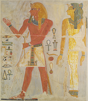 Thutmose I and His Mother Seniseneb