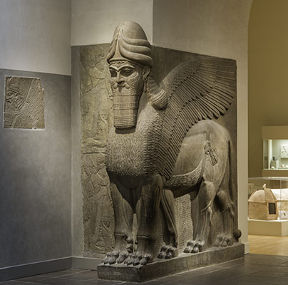 Human-headed winged lion (lamassu)