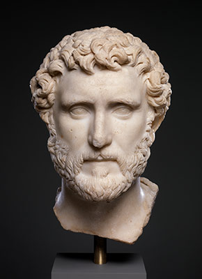 Marble portrait of the emperor Antoninus Pius