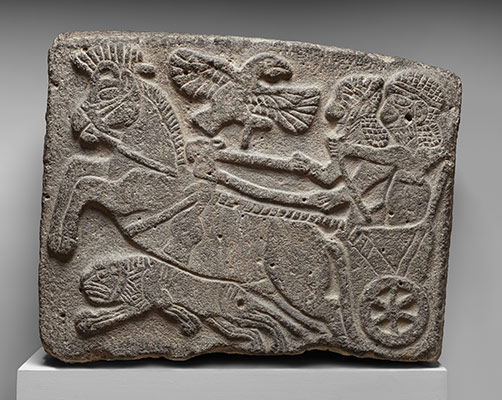 Orthostat relief: lion-hunt scene