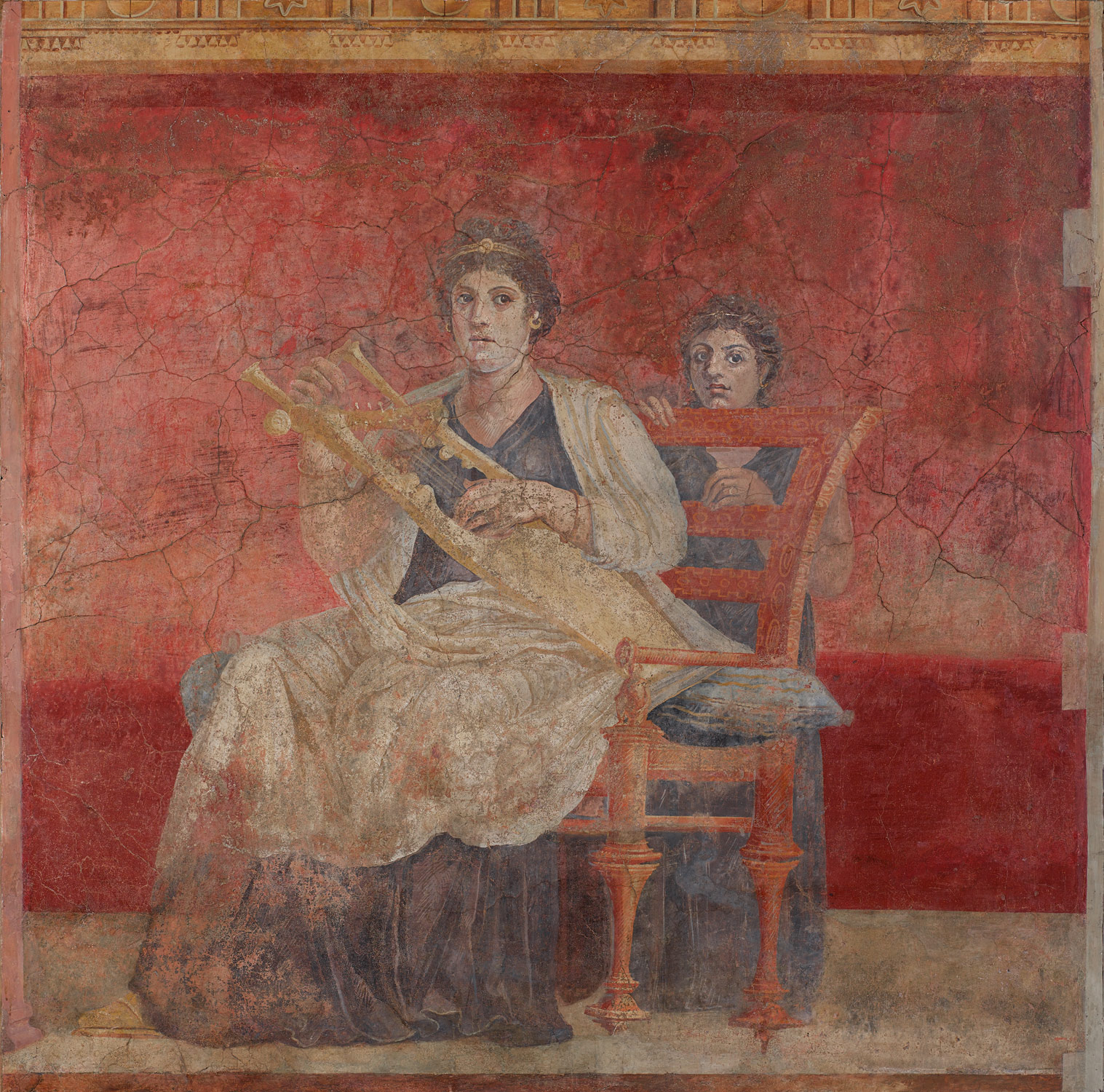 Famous roman painting the image kid has it for Ancient greek mural