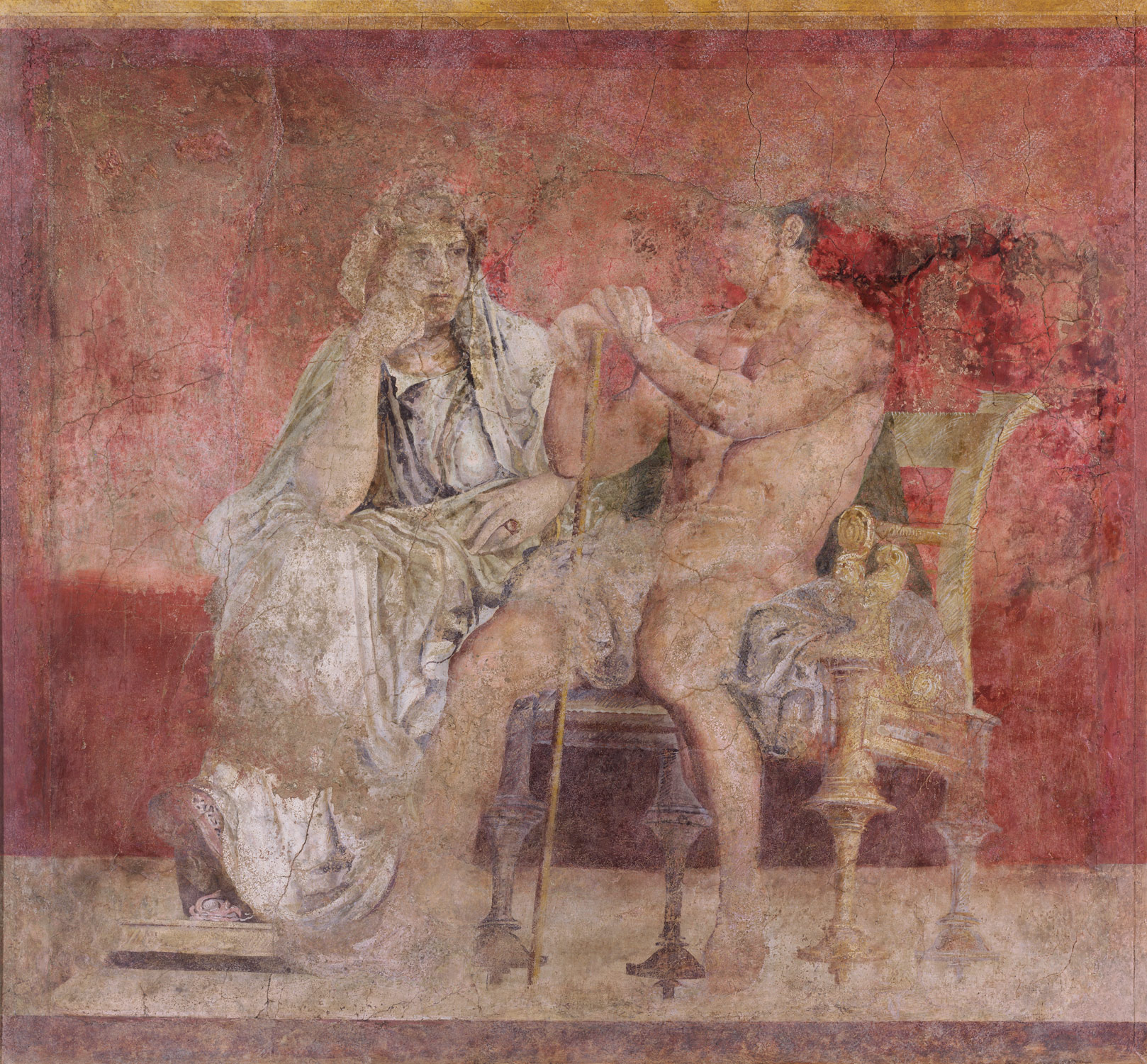 Image gallery roman frescoes for Ancient mural villa