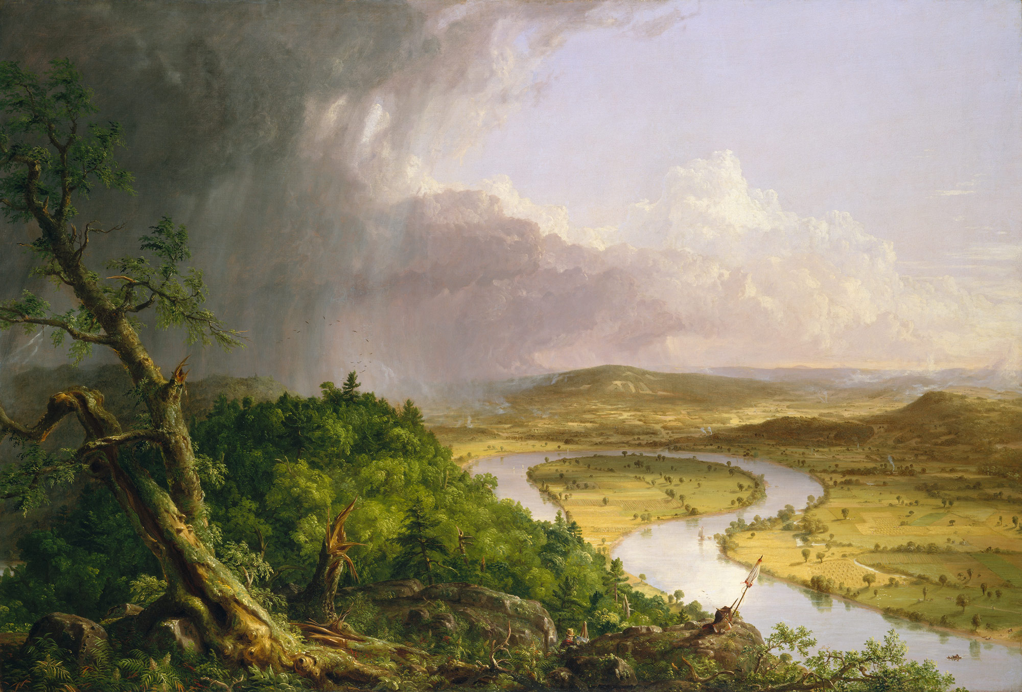 View from Mount Holyoke, Northampton, Massachusetts, after a Thunderstorm--The Oxbow