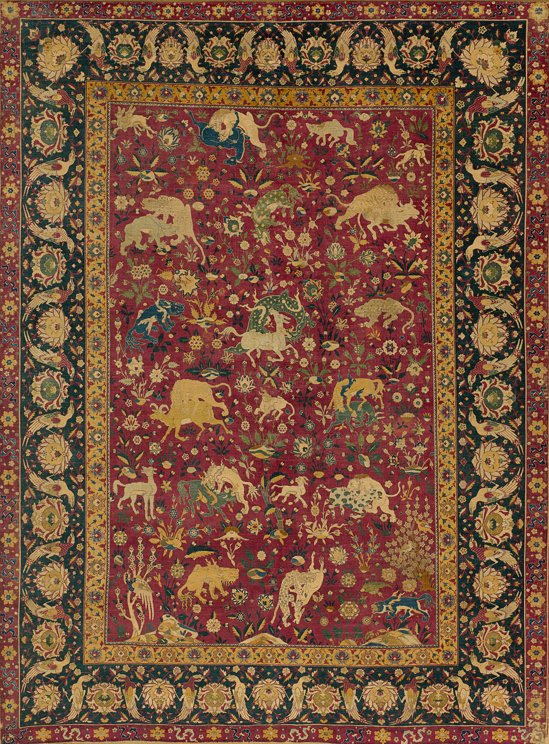 Silk Animal Carpet Work Of Art Heilbrunn Timeline Of