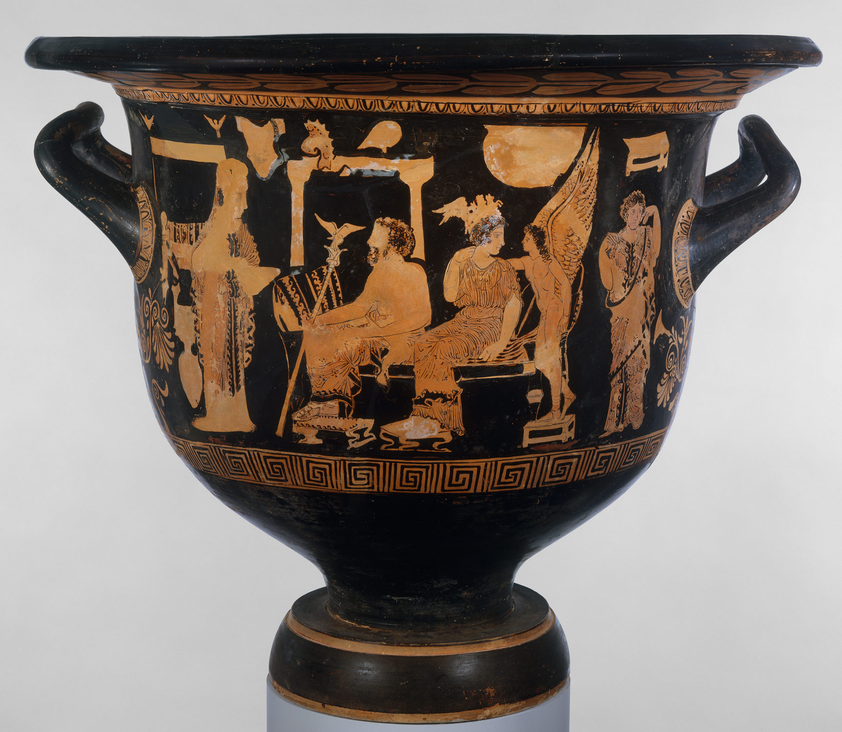 Terracotta bell-krater (mixing bowl)