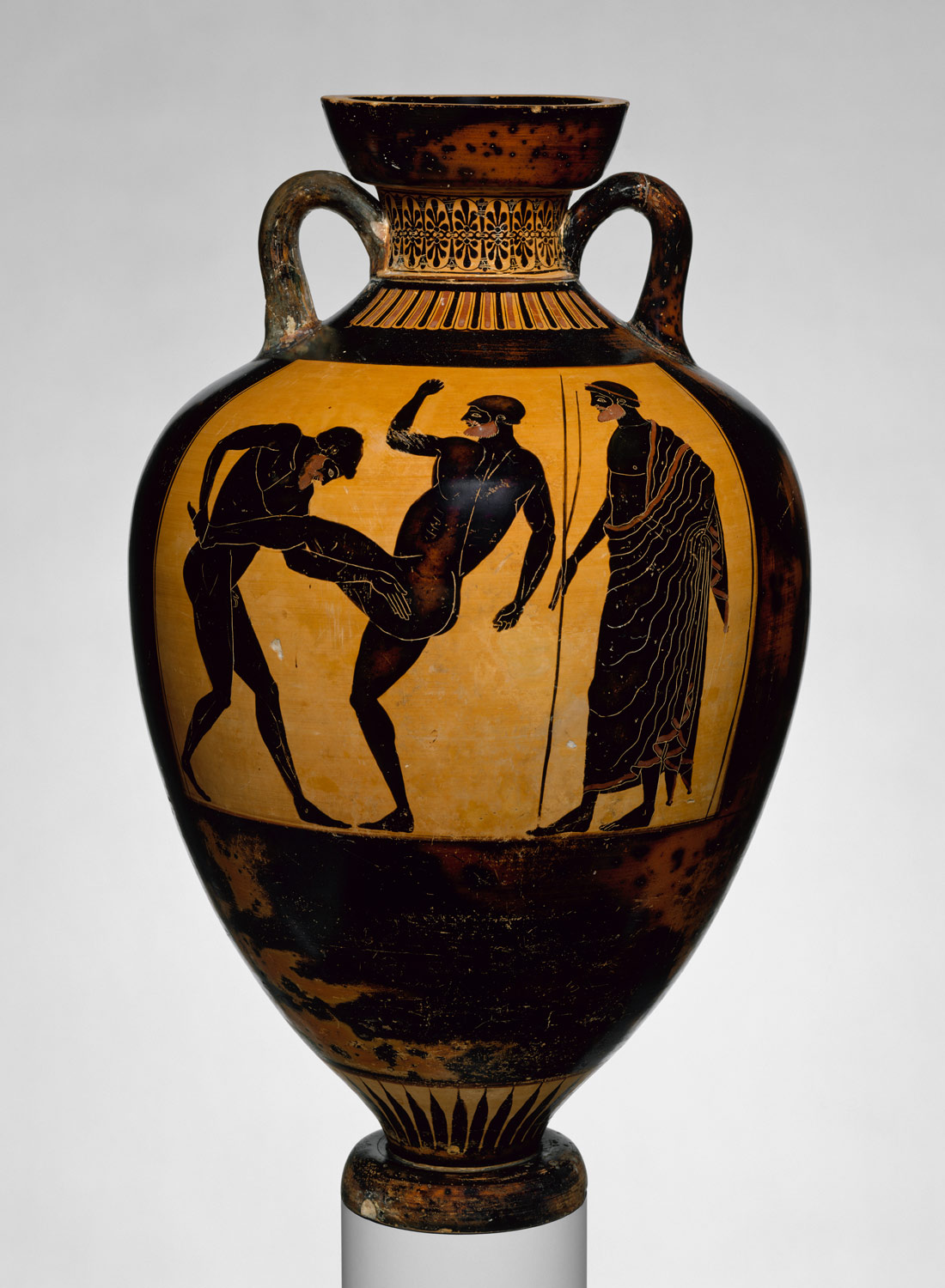 athenian vase painting black and red figure techniques essay terracotta panathenaic prize amphora