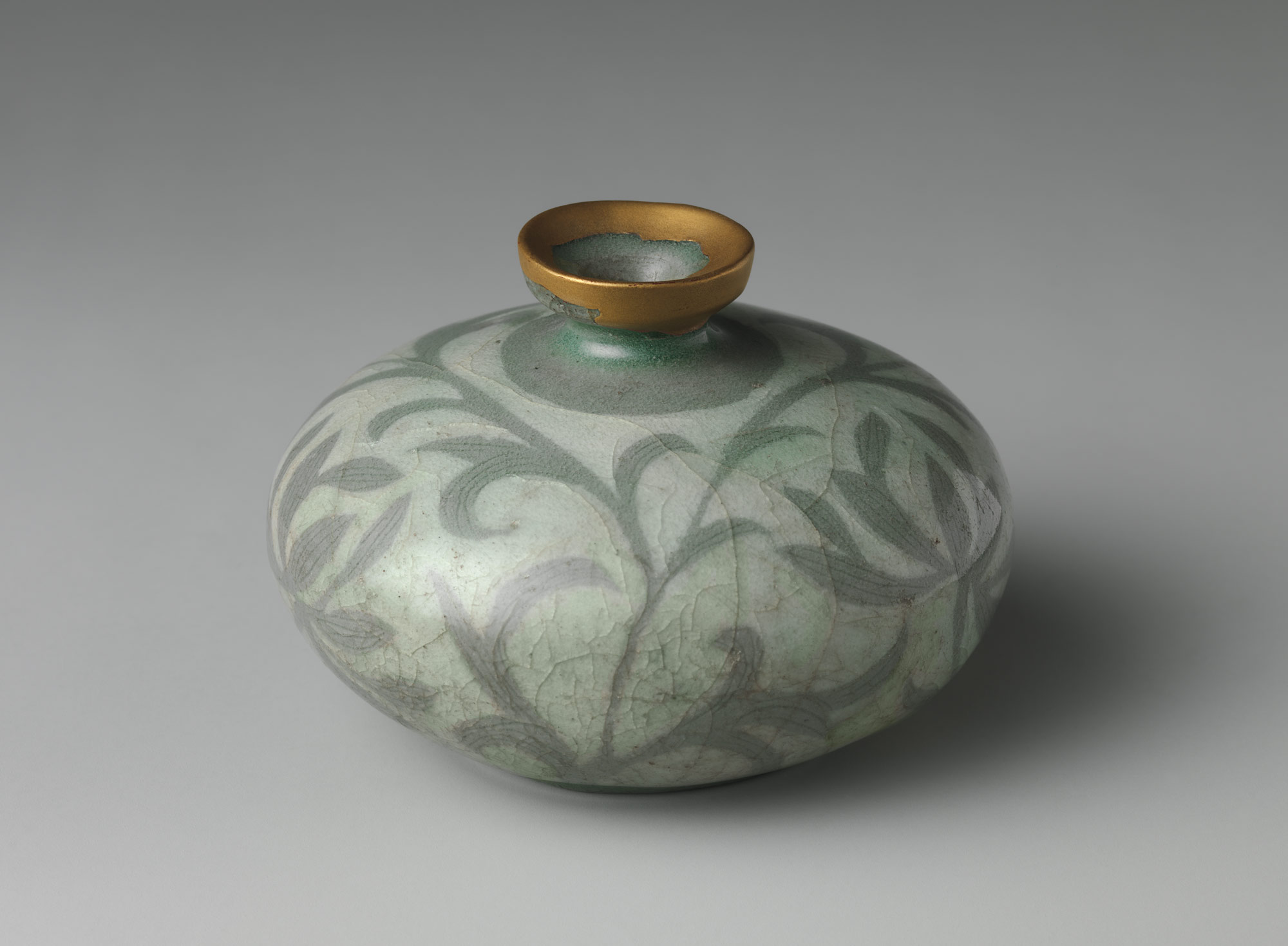 goryeo celadon essay heilbrunn timeline of art history the oil bottle decoration of peony leaves