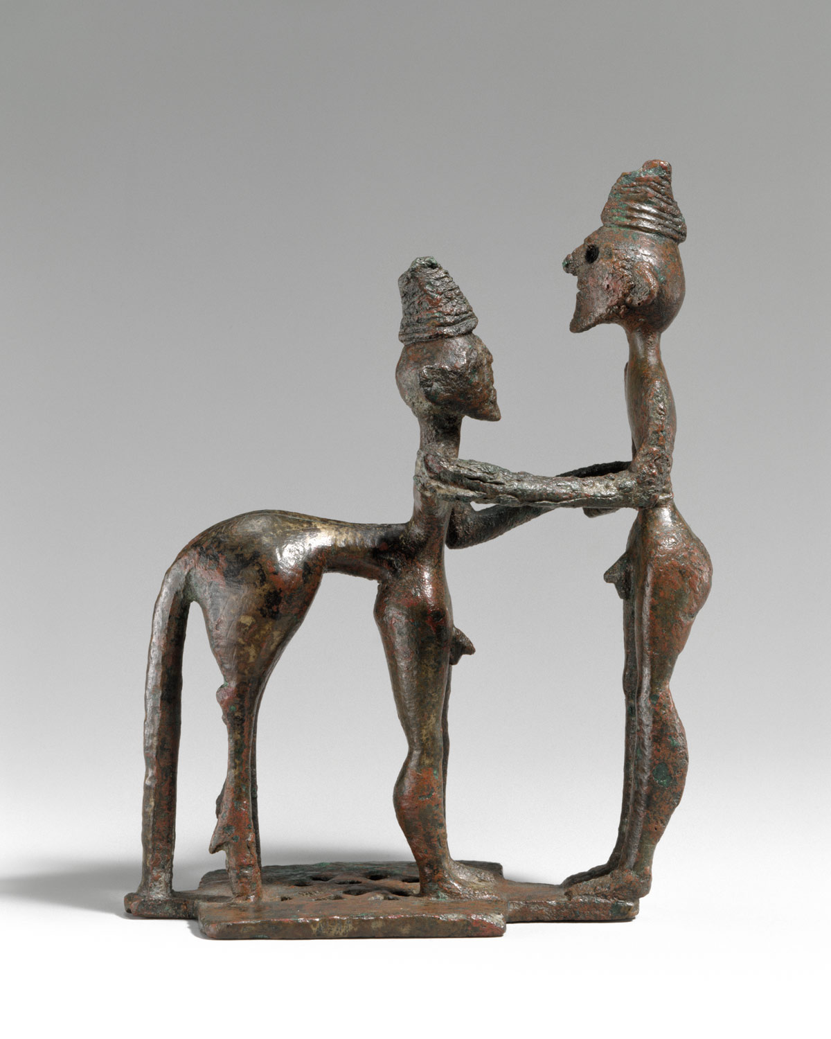 Bronze man and centaur