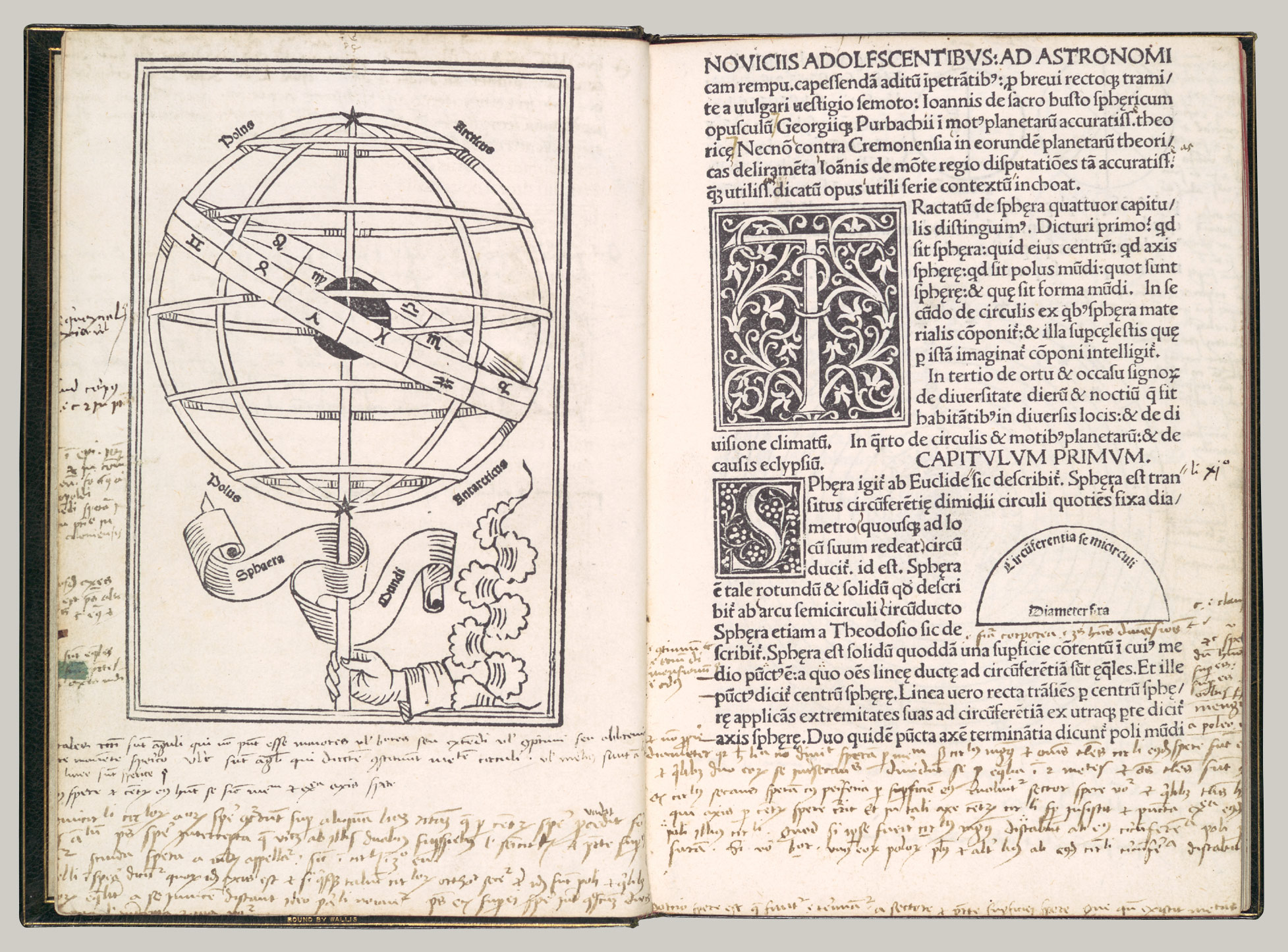 woodcut book illustration in renaissance the first sphaera mundi