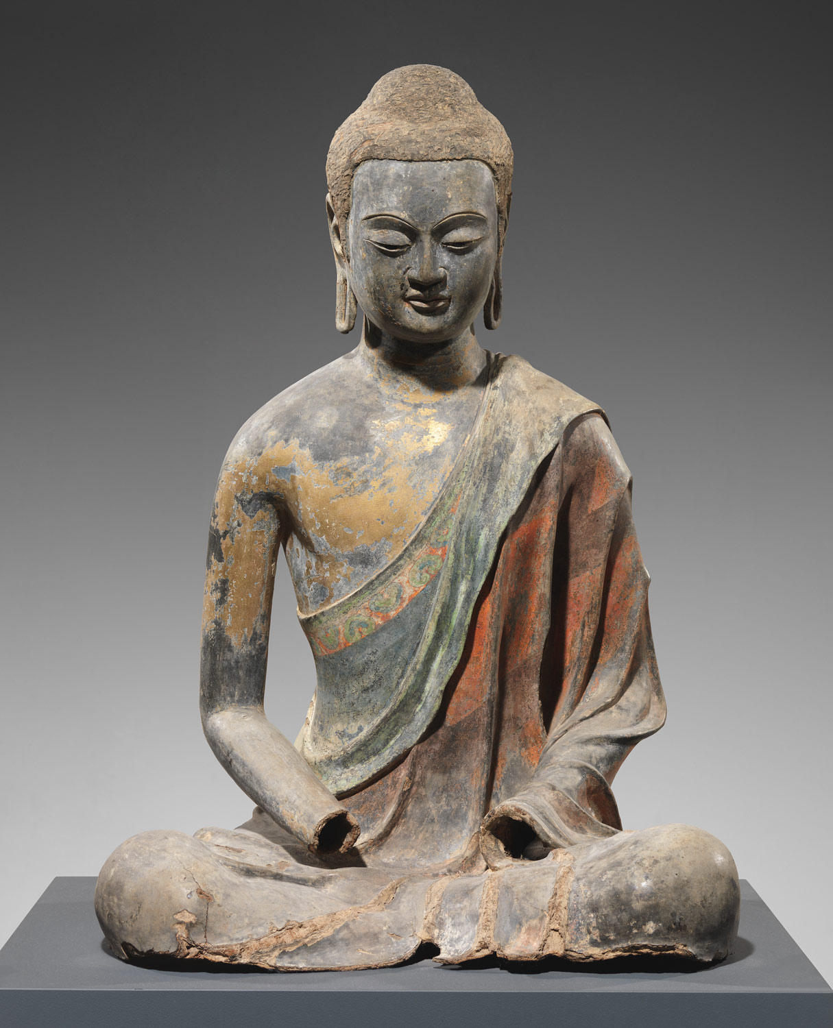 Ancient Chinese Buddhist Art Buddha, probably amitabha