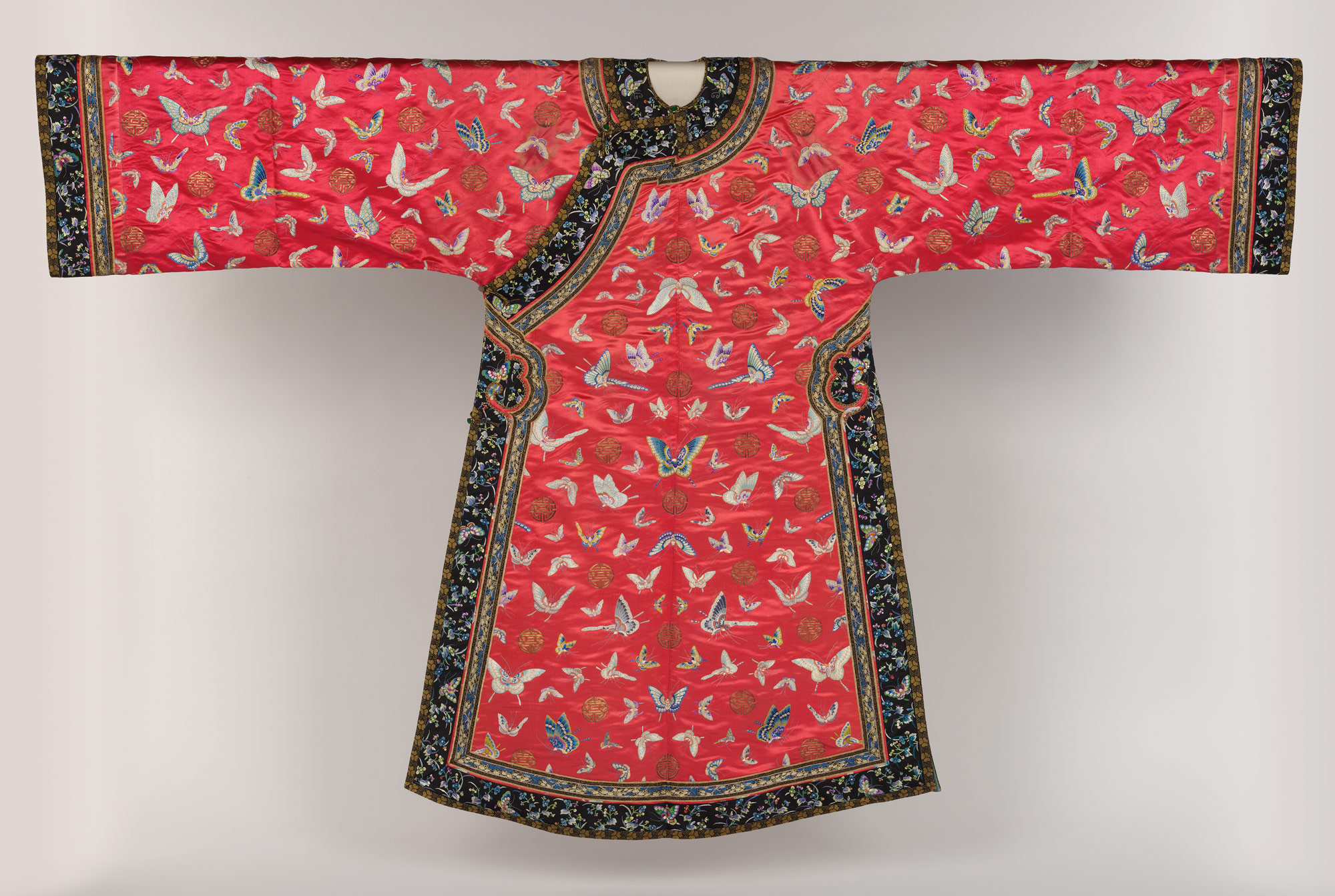 Womans Informal Robe with Butterflies