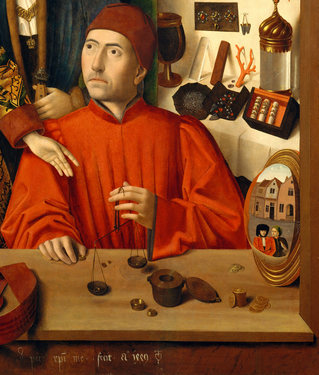 A Goldsmith in his Shop