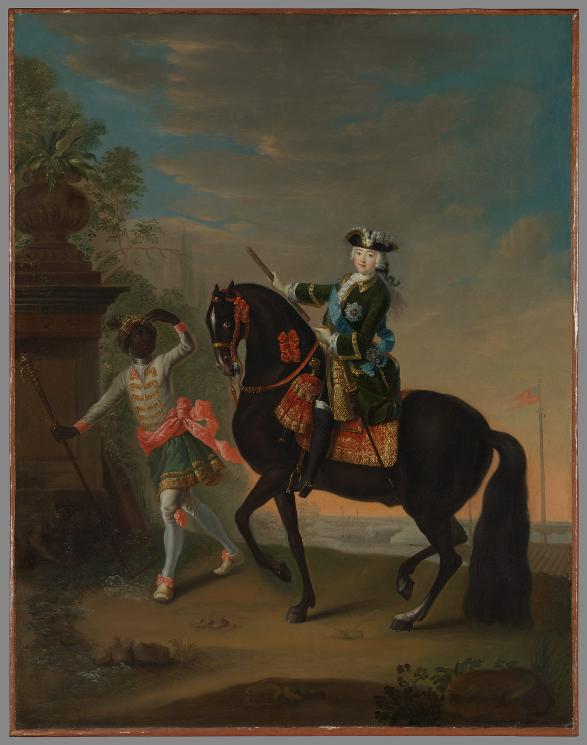 The Empress Elizabeth of Russia (1709-1762) on Horseback, Attended by a Page