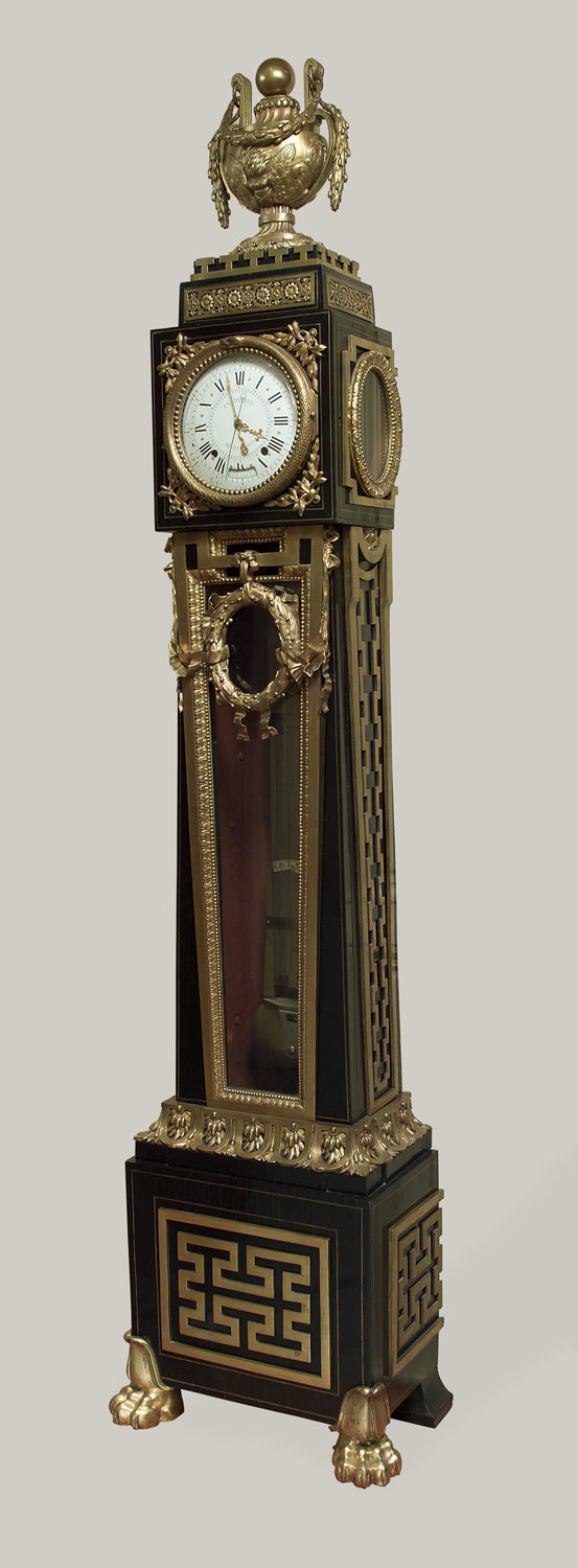 Longcase astronomical regulator