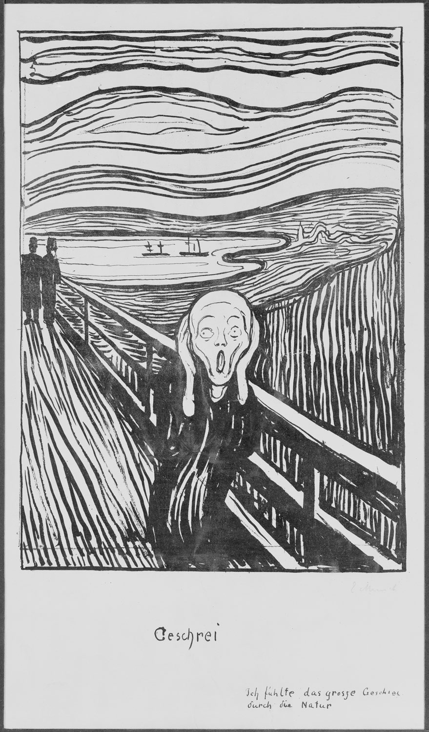 Edvard Munch's The Scream, 1895 (Lithograph)
