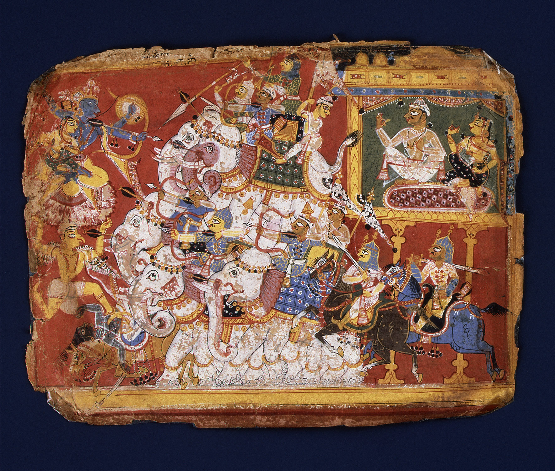 Krishna Battles the Armies of the Demon Naraka: Page from a Bhagavata Purana Manuscript