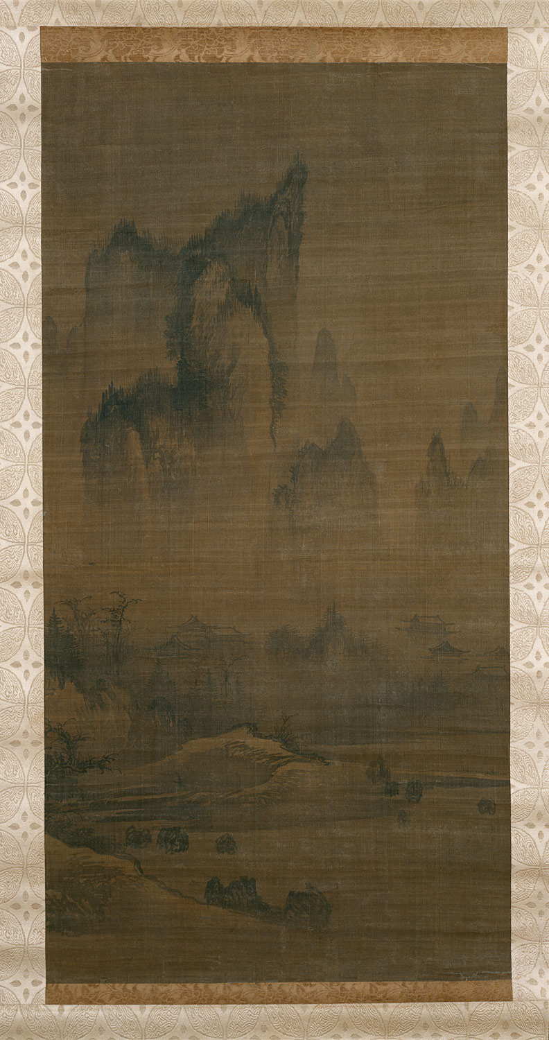 mountain and water korean landscape painting 1400 1800 essay evening bell from mist shrouded temple left autumn moon over lake dongting