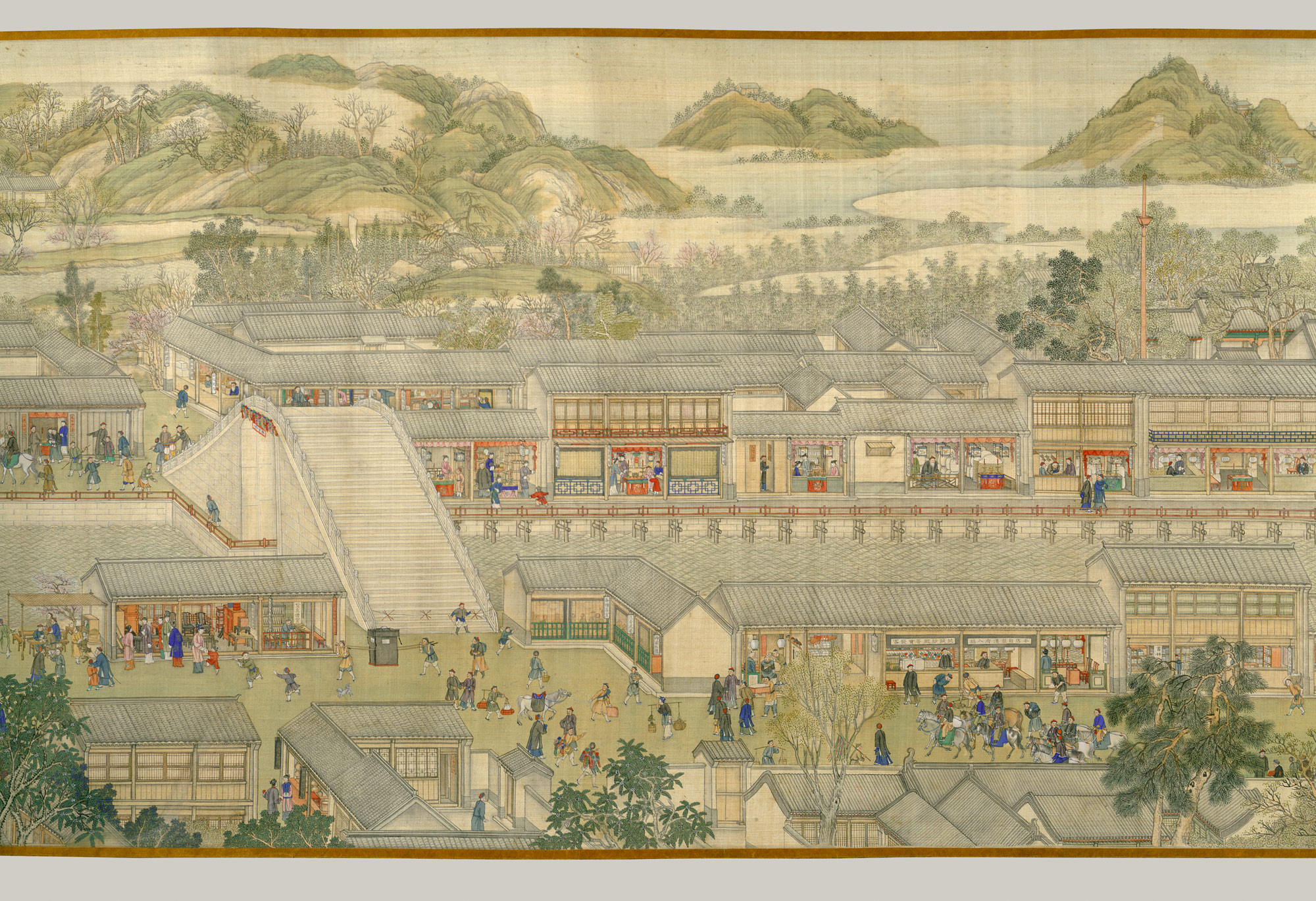 The Qianlong Emperors Southern Inspection Tour, Scroll Six: Entering Suzhou along the Grand Canal