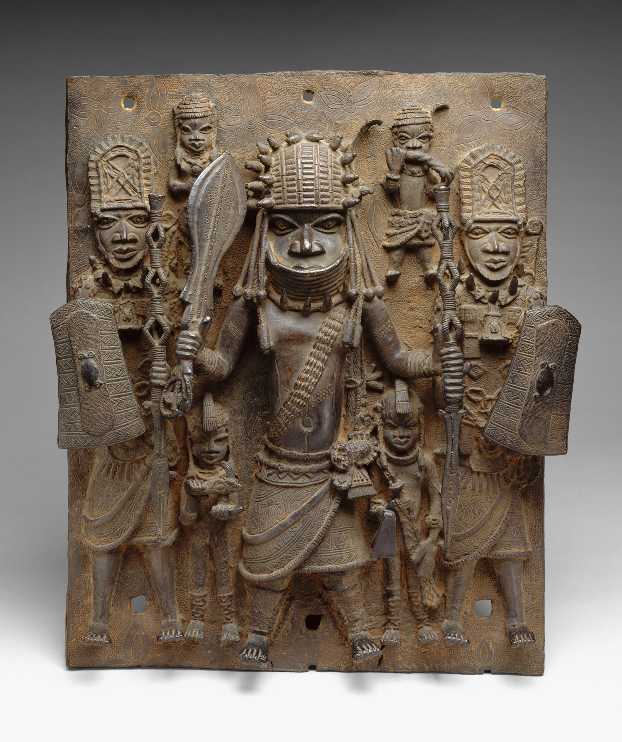 Plaque: Warrior and Attendants