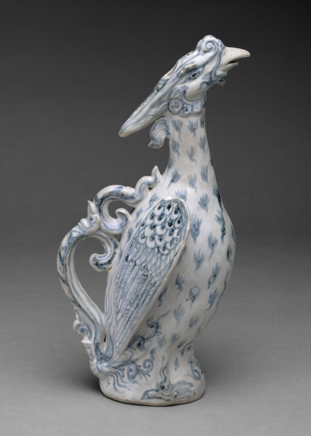 Ewer in the form of a phoenix