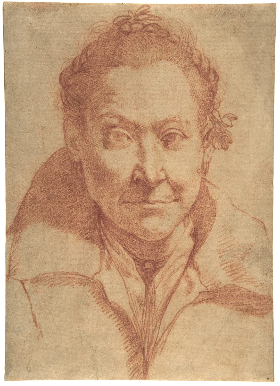 Bust-Length Portrait of a Woman (recto); Bust-Length Study of a Girl (verso)