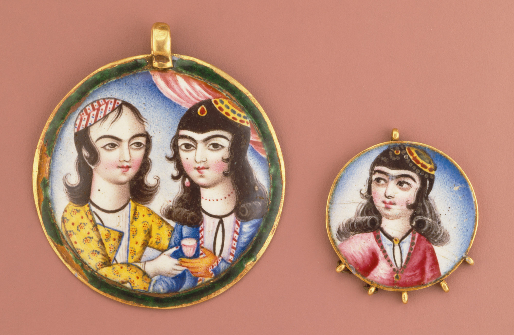 Portrait of a Girl in a Round Pendant