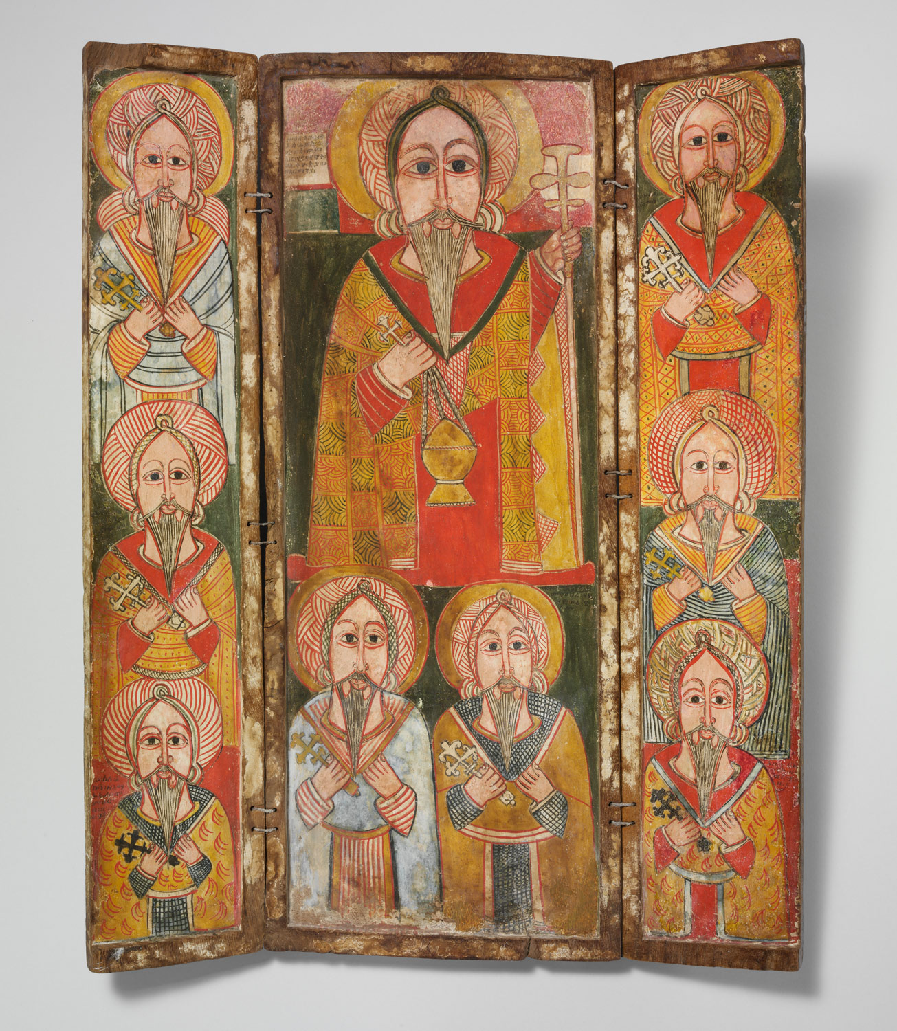 Icon Triptych: Ewost atéwos and Eight of His Disciples