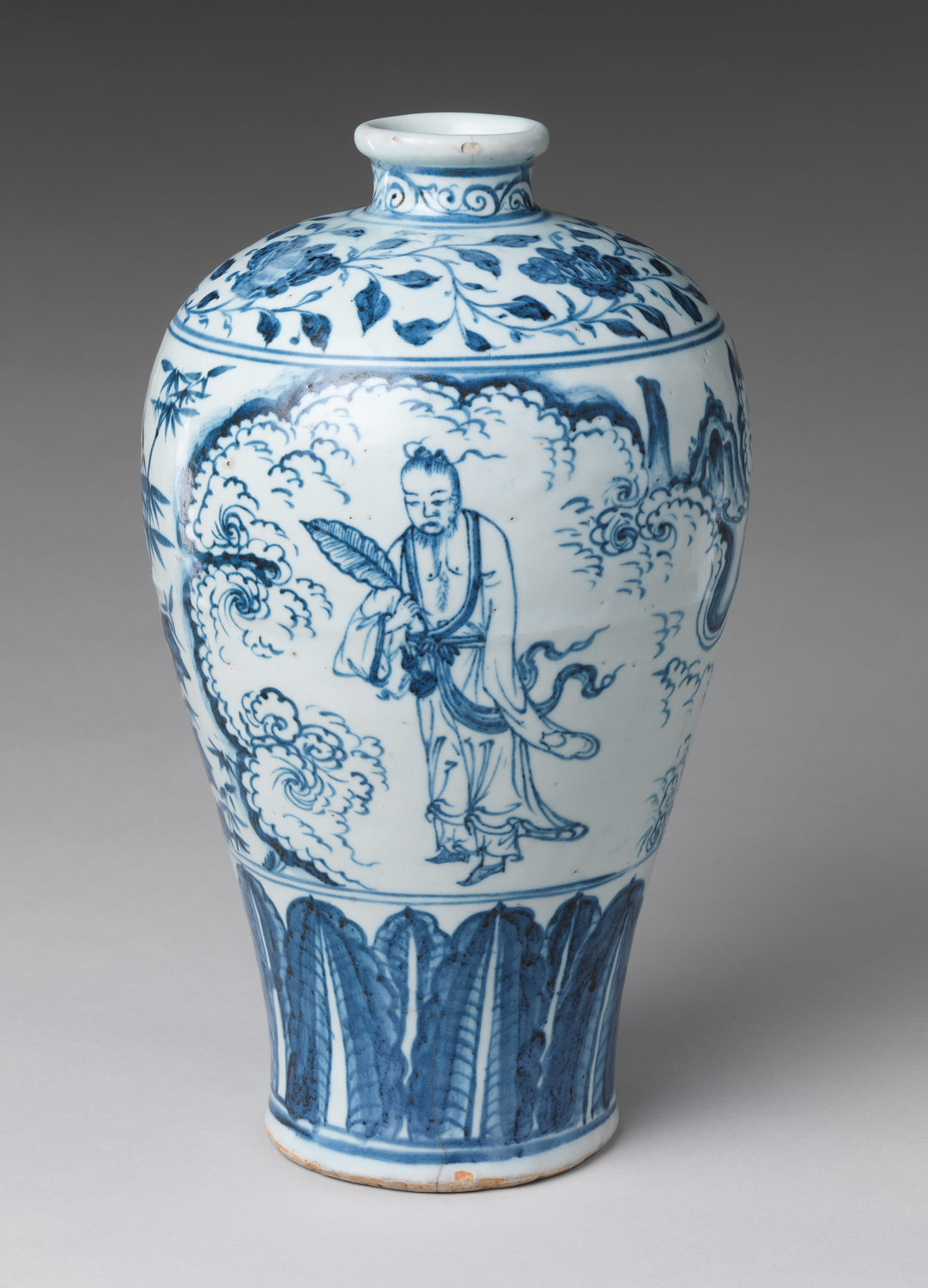 Vase in Meiping Shape with Daoist Immortal Zhongli Quan