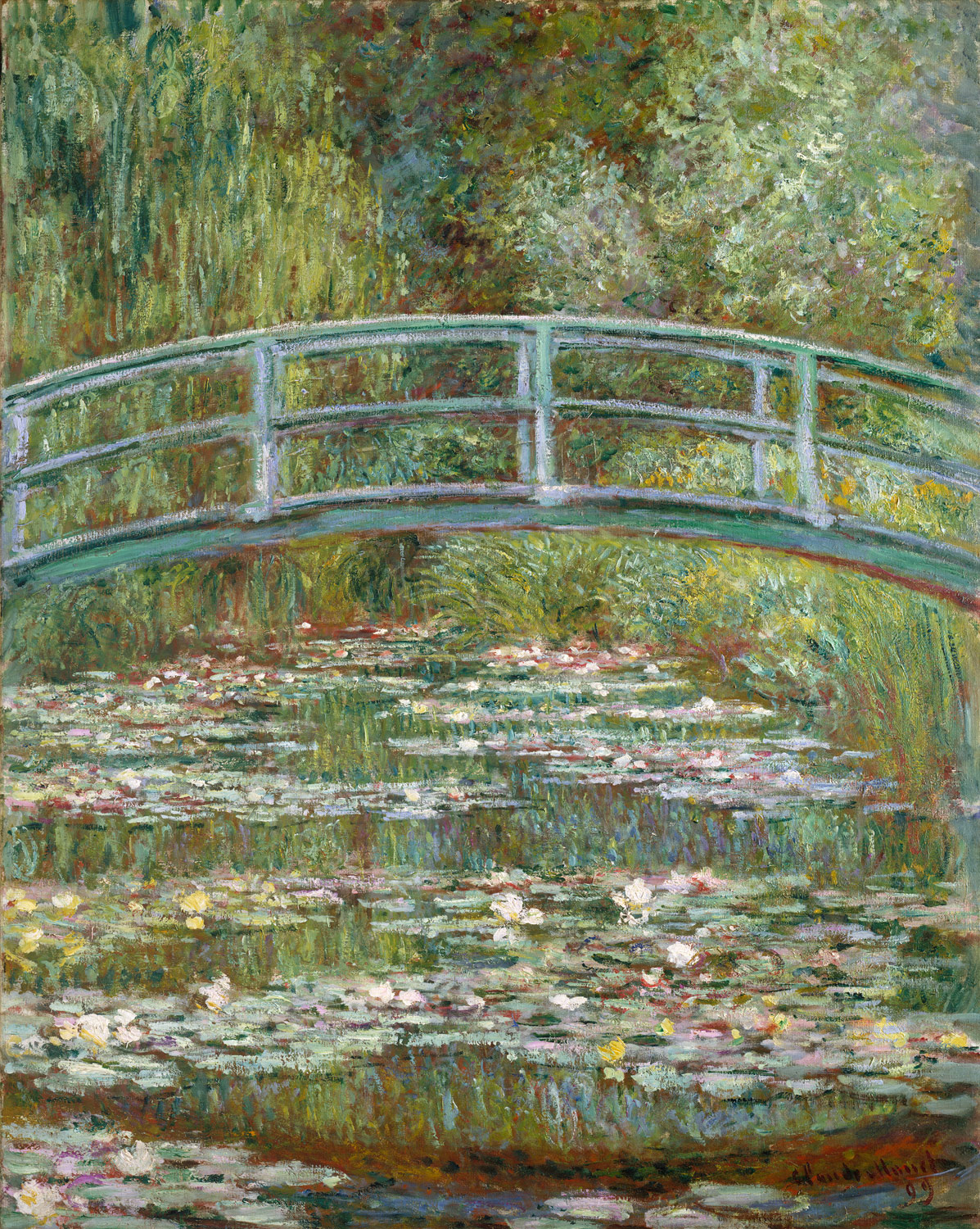 Bridge over a Pond of Water Lilies, 1899. Claude Monet (French, 1840–1926)